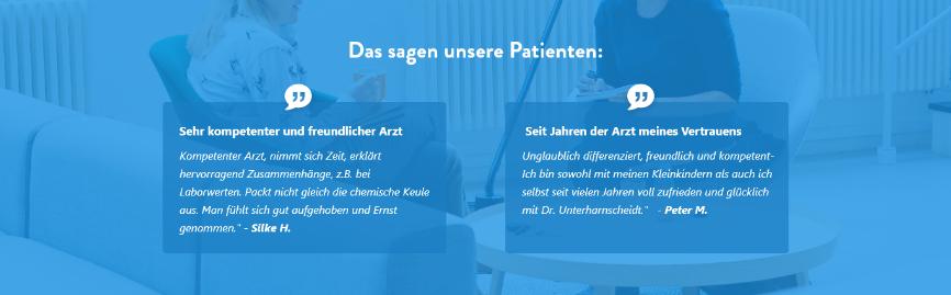 webdesign für ärzte - patientenbewertungen